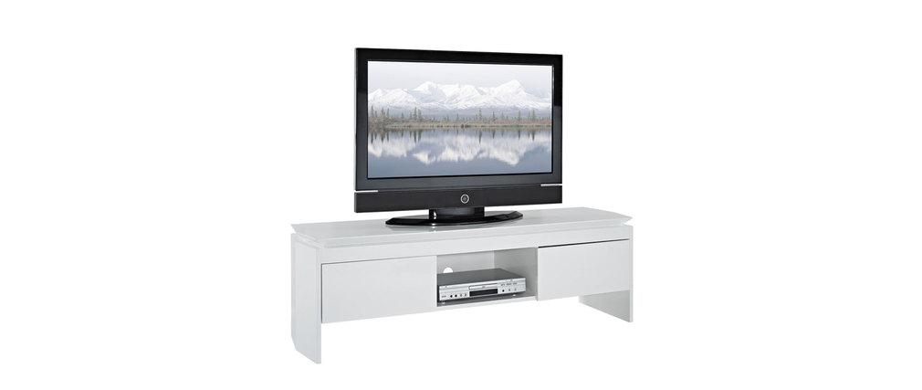 Mobile tv design laccato bianco telio miliboo - Mobile laccato bianco ...