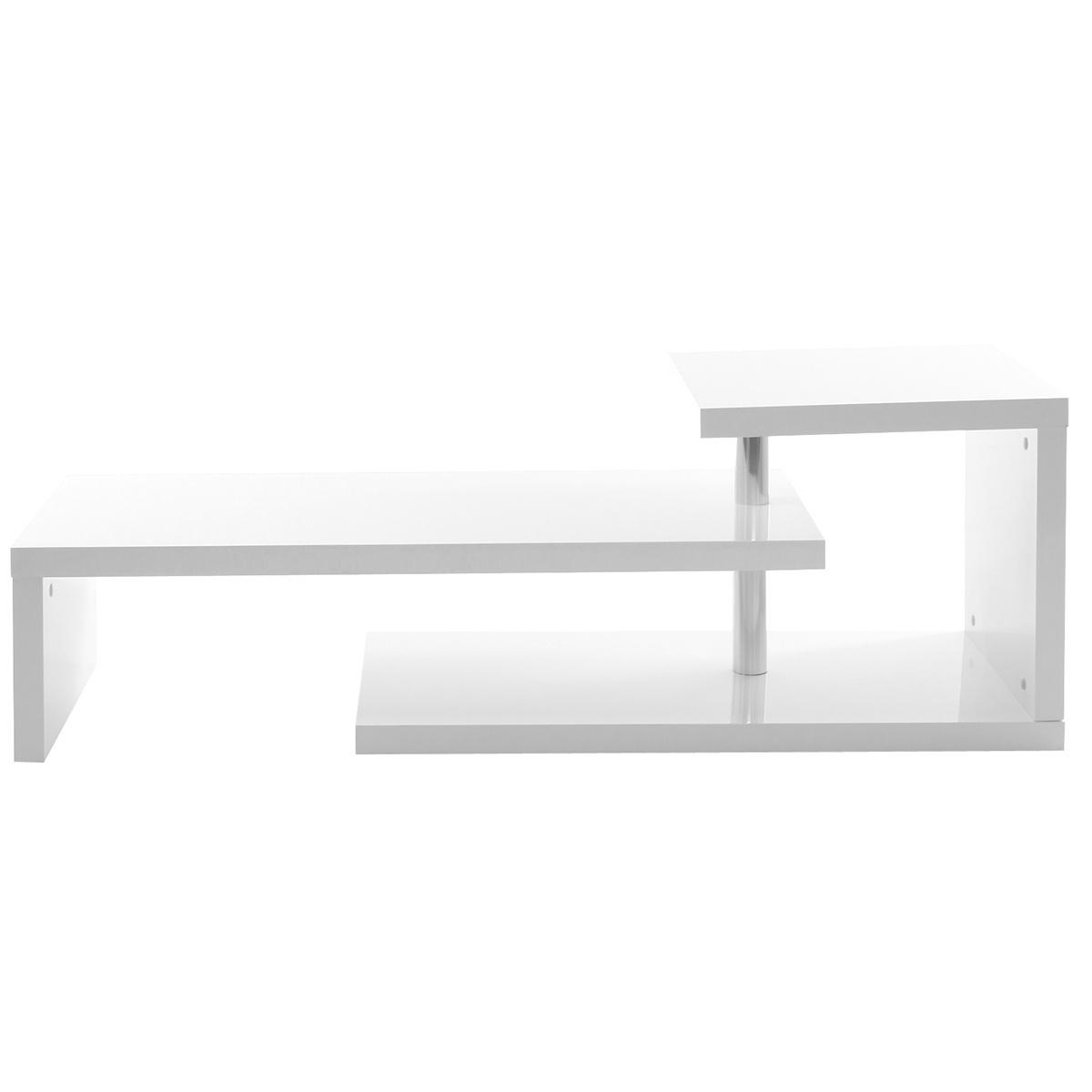 Mobile TV design laccato bianco TURN