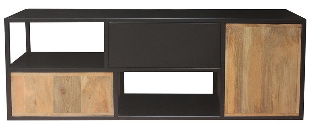 Mobile TV in metallo nero e mango JAIPUR