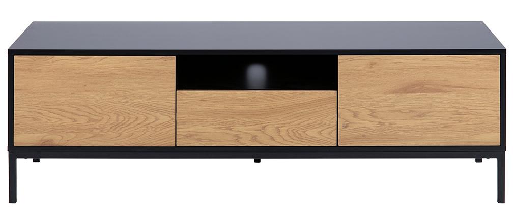 Mobile TV industriale legno e metallo L140 cm TRESCA