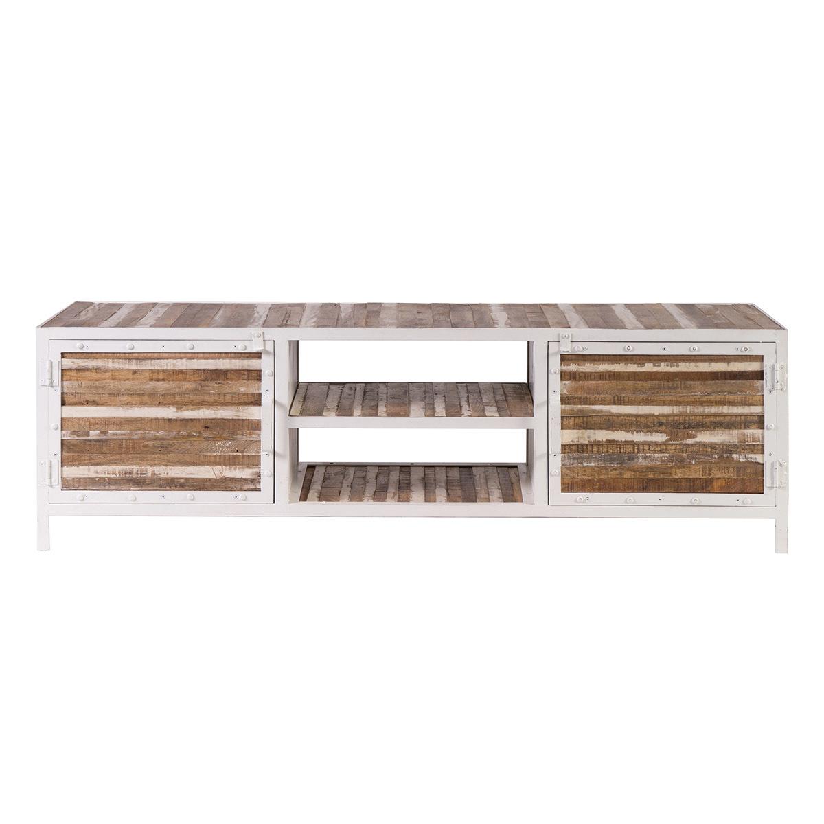 Mobile TV legno e metallo bianco 150cm ROCHELLE