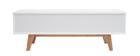 Mobile TV scandinavo bianco brillante e legno MELKA