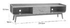 Mobile TV vintage in legno noce 180 cm HALLEN