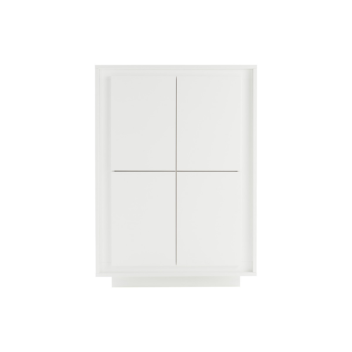 Mobiletto buffet alto design 4 porte color: Bianco LAND