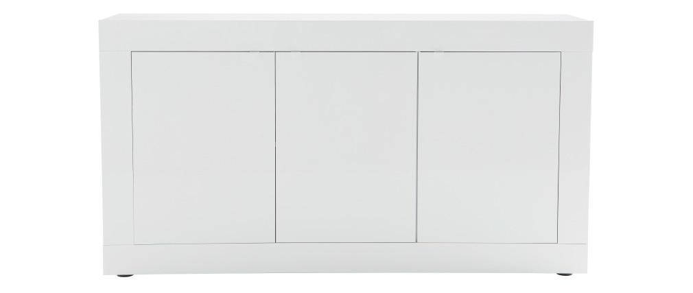 Mobiletto buffet design laccato bianco 160 cm LATTE