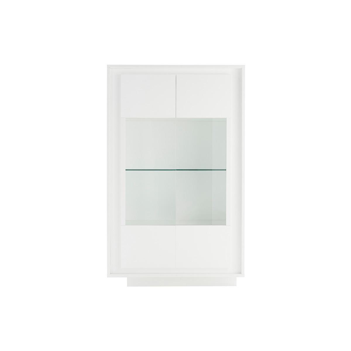 Mobiletto buffet in vetro design Bianco LAND