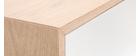 Mobiletto buffet scandinavo alto in legno Bianco 125 cm SID