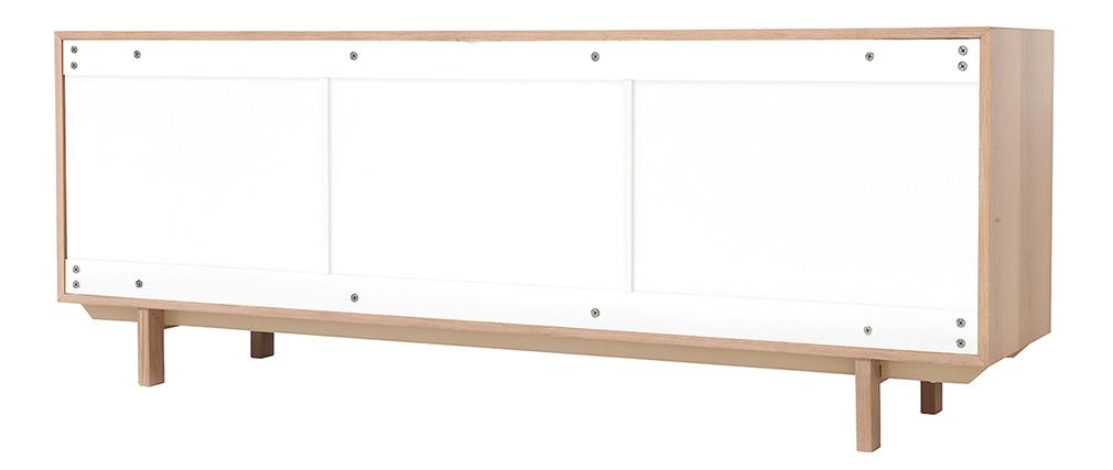 Mobiletto buffet scandinavo in legno Bianco 195 cm SID