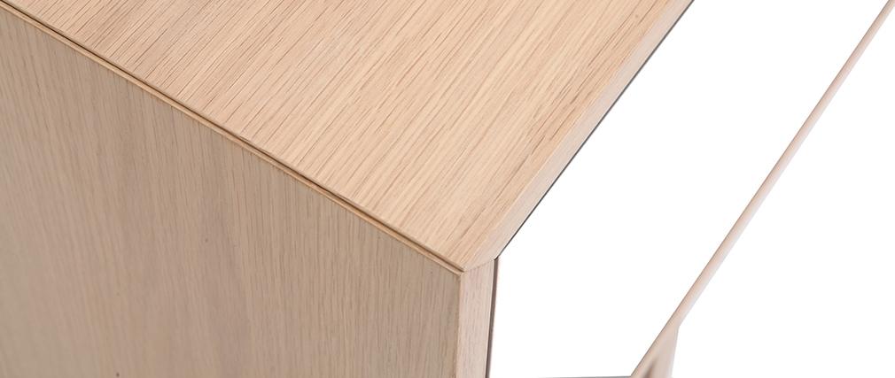 Mobiletto TV scandinavo in legno e bianco 180 cm SID