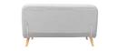 Panca convertibile 2 posti in tessuto grigio chiaro AMIKO