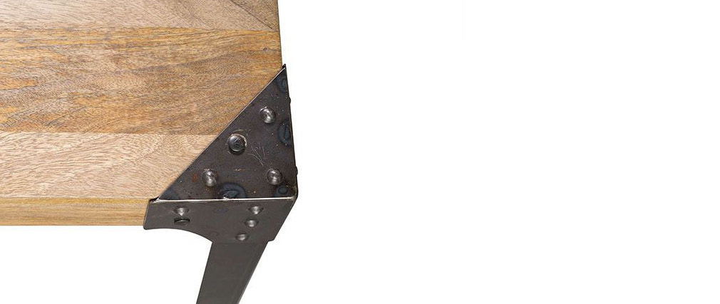 Panca design industriale metallo e legno 180cm MADISON