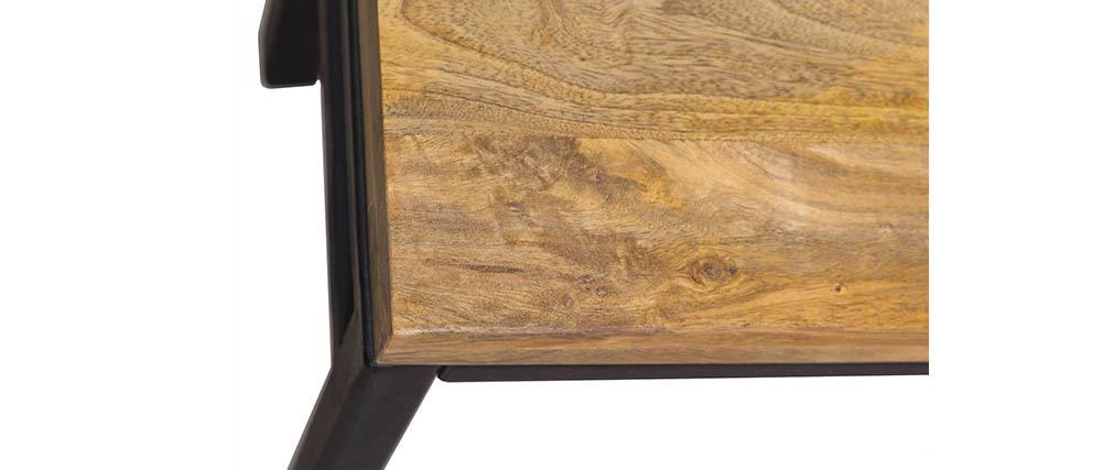 Panca industriale legno e metallo 140 cm YPSTER