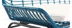 Panchina da giardino in fili di resina Blu anatra TANGO