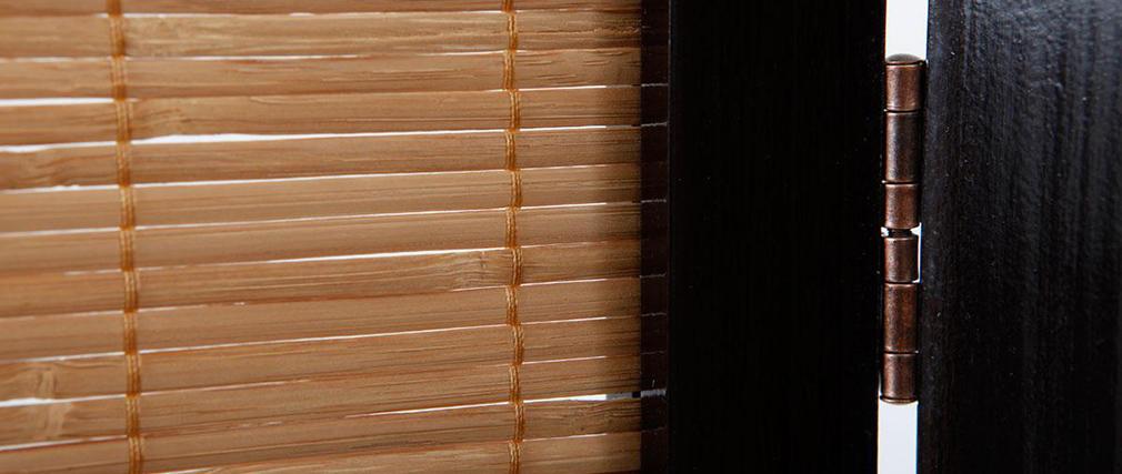 Paravento 3 ante SUWA in abete e bambù