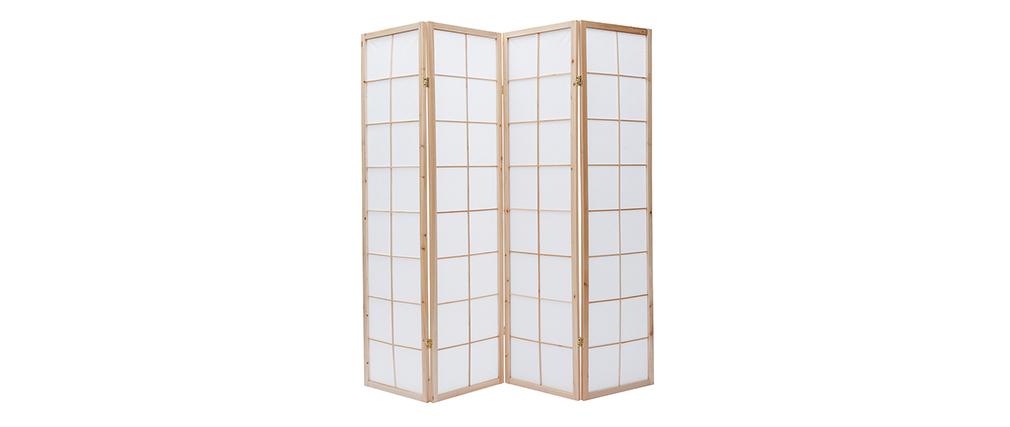 Paravento giapponese in legno e carta IKUYO