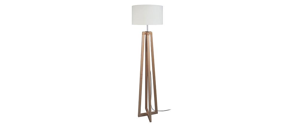 Piantana design con piedi incrociati in legno MANON