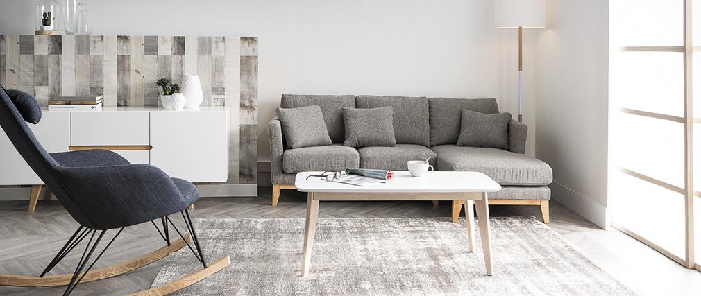 Piantana design con treppiede in legno Bianco ELIOT