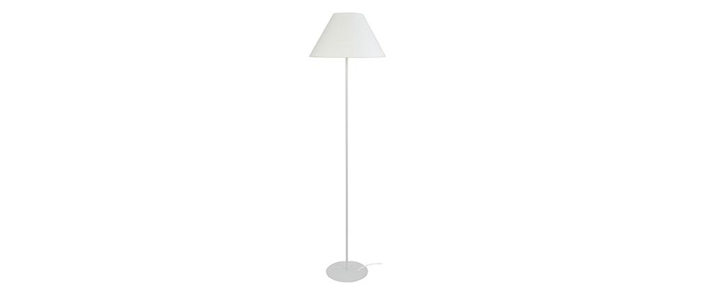 Piantana design in acciaio Bianco CONEO