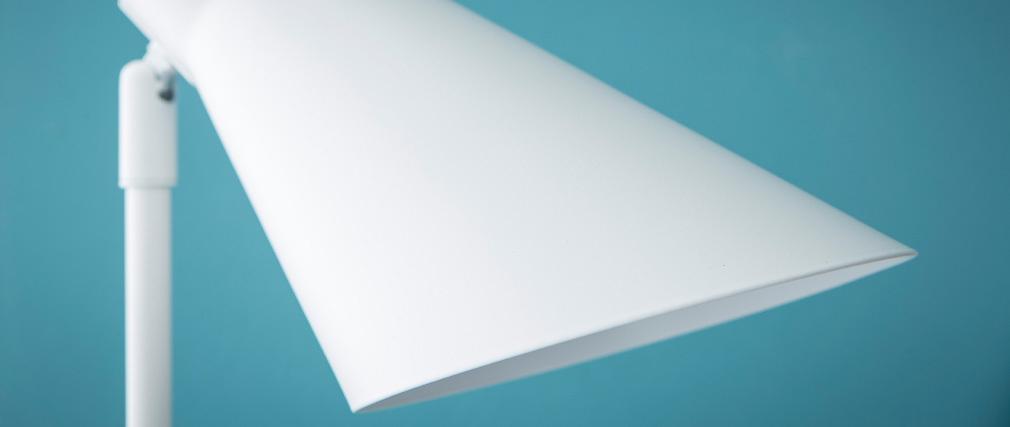 Piantana design in metallo Bianco AMPLO