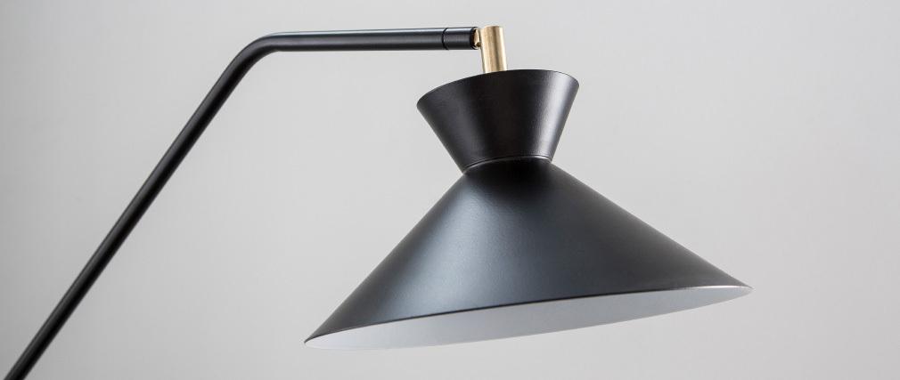Piantana lampada da lettura design in acciaio Nero LEEDS