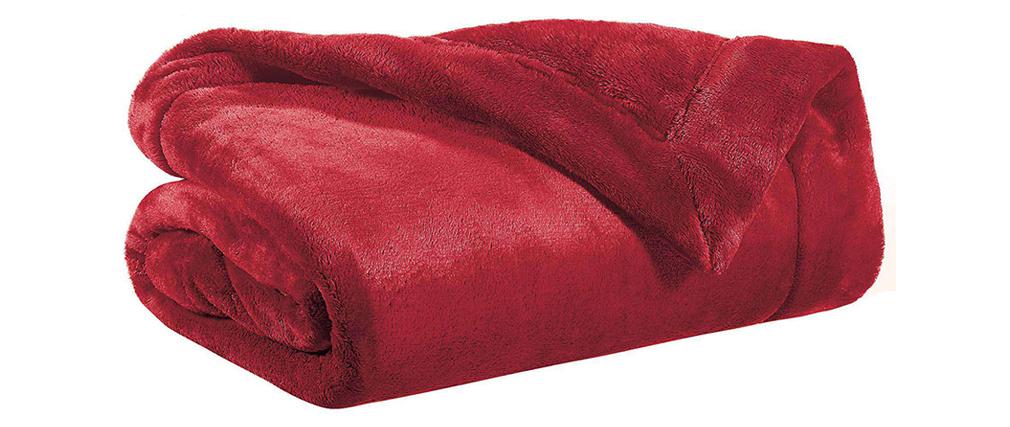 Plaid in poliestere rosso 150 x 200 cm FERO