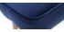 Poggiapiedi in velluto blu scuro ZOLA