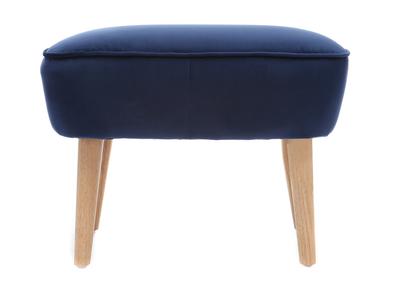 Poggiapiedi in velluto, colore: Blu scuro, modello: ZOLA