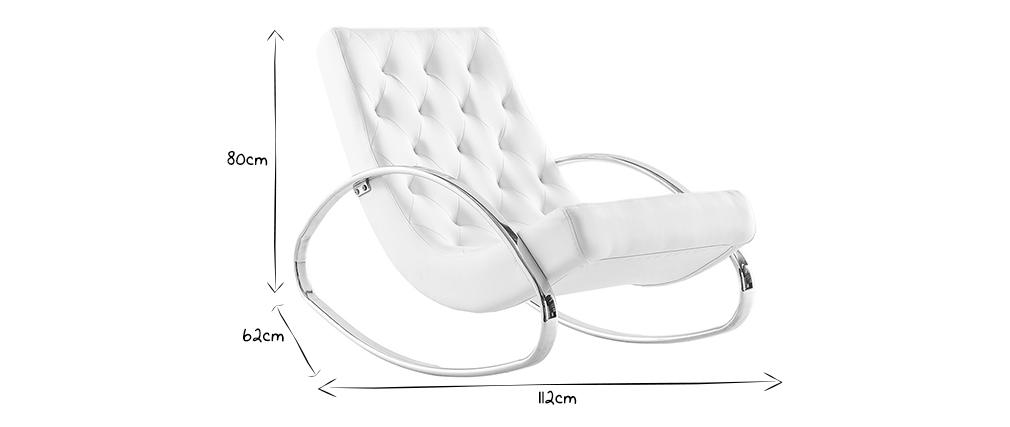 Poltrona a dondolo design bianca CHESTY