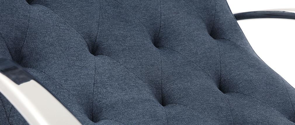 Poltrona a dondolo design blu CHESTY