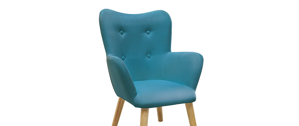 Poltrona bambino design blu petrolio BABY BRISTOL