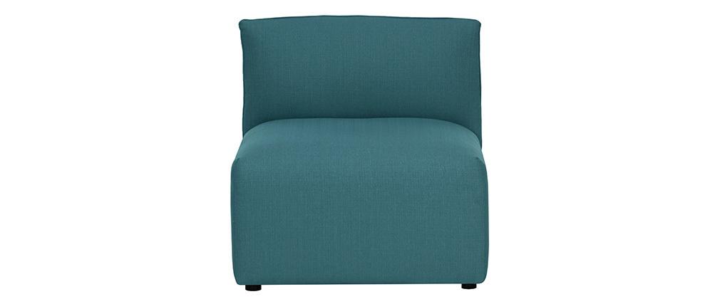 Poltrona bassa senza braccioli design in tessuto Blu anatra MODULO