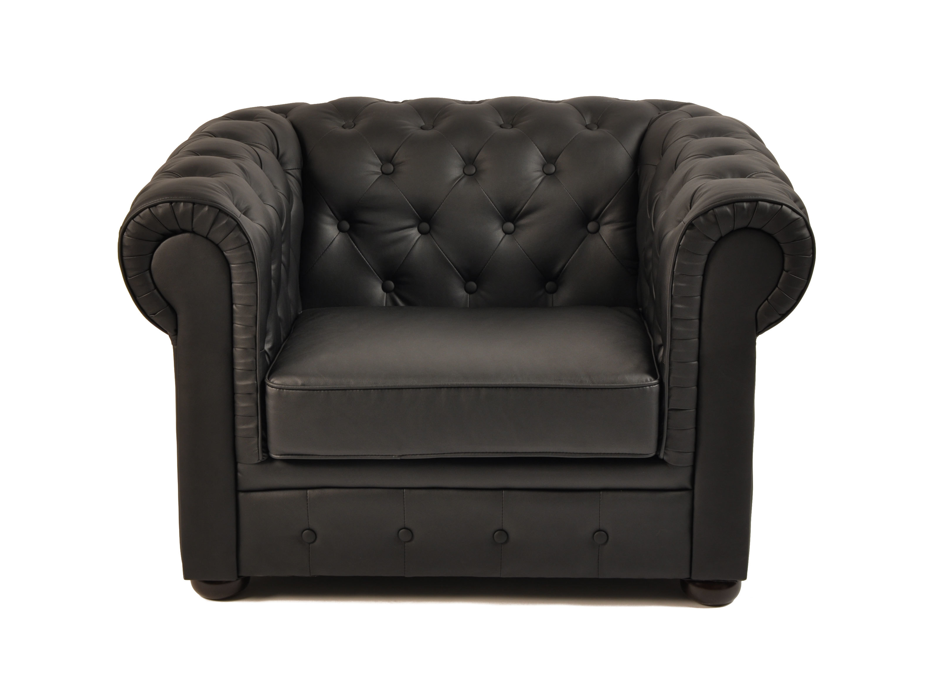 Poltrona Chesterfield colore nero