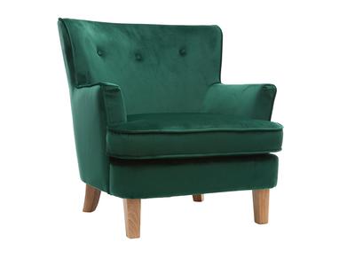 Poltrona classica in velluto, colore: Verde, modello: CEZANNE
