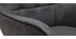 Poltrona con poggiapiedi grigio MOOD