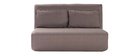 Poltrona convertibile 2 posti design color talpa SLEEPER