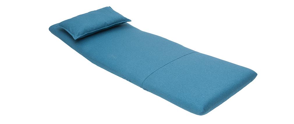 Poltrona convertibile design blu anatra SLEEPER