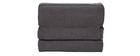 Poltrona convertibile design effetto velluto grigio scuro KATY