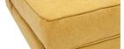 Poltrona convertibile design effetto velluto senape KATY