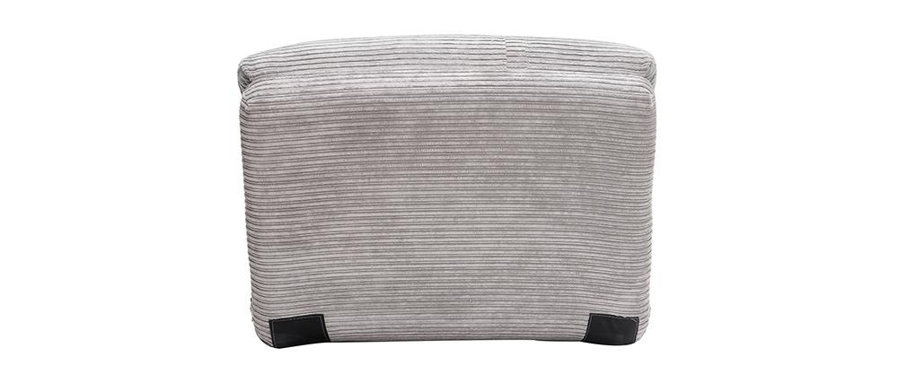 Poltrona convertibile in velluto a coste grigio chiaro SPENCER