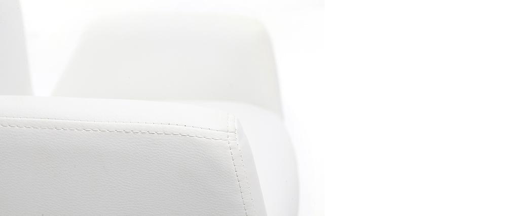 Poltrona da bambino design girevole PU bianco SOLLY
