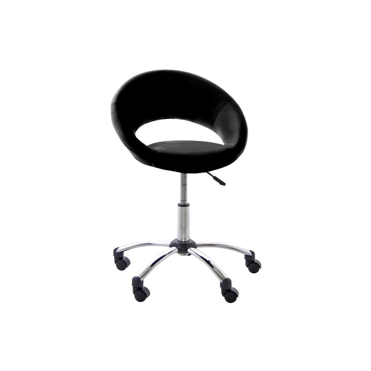 Poltrona da ufficio a rotelle design color nero PINTO