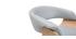 Poltrona da ufficio deisgn tessuto grigio e legno chiaro OKTAV