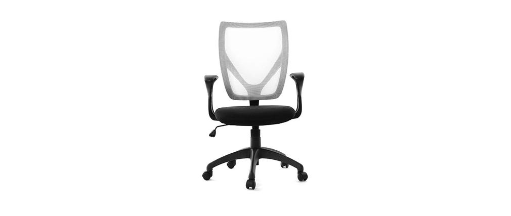 Poltrona da ufficio design colore bianco e nero PAOLO