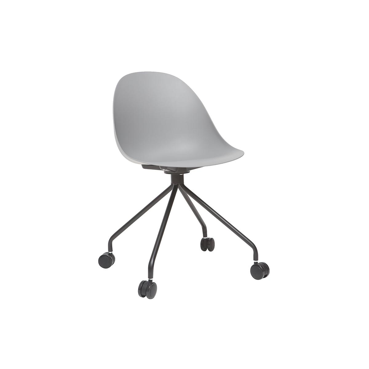 Poltrona da ufficio design grigio e nero concha for Poltrone design da ufficio