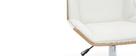 Poltrona da ufficio design in poliuretano Bianco e legno chiaro MELKIOR
