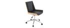 Poltrona da ufficio design in poliuretano Nero e legno MELKIOR