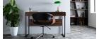 Poltrona da ufficio design in poliuretano Nero/Noce ARAMIS