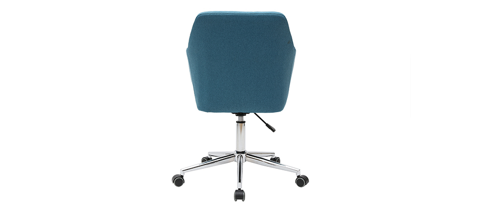 Poltrona da ufficio design in tessuto blu anatra ALEYNA