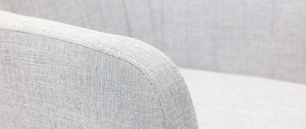 Poltrona da ufficio design in tessuto grigio chiaro ALEYNA