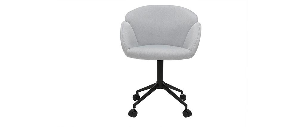 Poltrona da ufficio design in tessuto grigio chiaro RHAPSODY